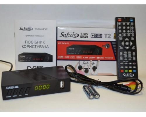 Цифровой эфирный тюнер Satcom T505 HEVC