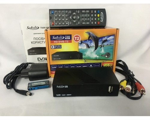 Цифровой эфирный тюнер Satcom T500 AVC
