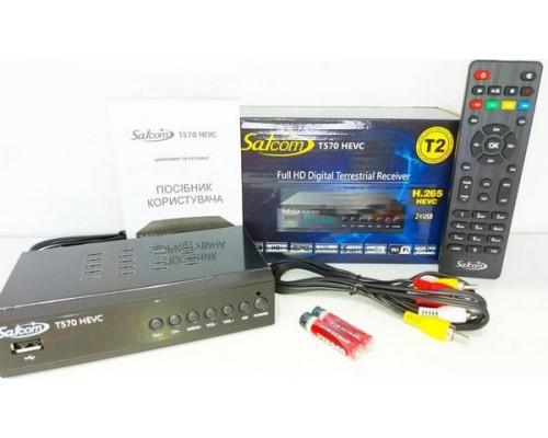 Цифровой эфирный тюнер Satcom T570 HEVC