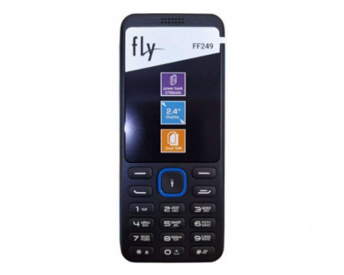 Мобiльний телефон Fly FF249 Dual Sim Black-Blue